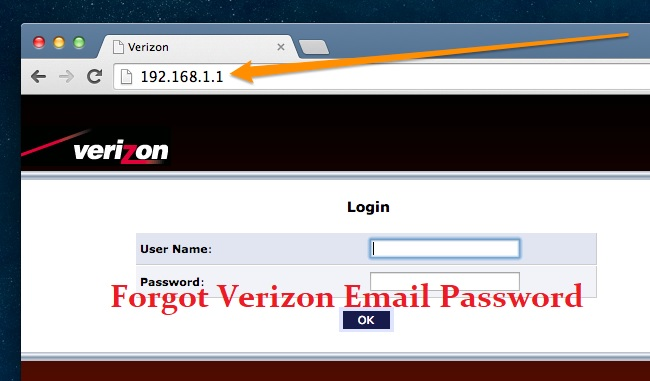verizon email password