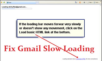 gmail slow loading