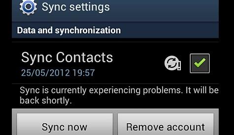 gmail sync problem