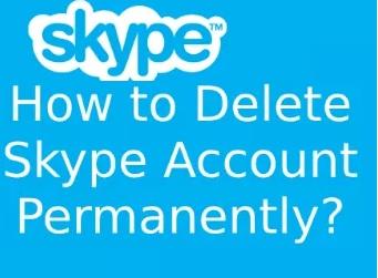 delete Skype account
