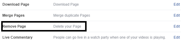 remove pages in fb