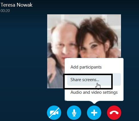 screen share Skype