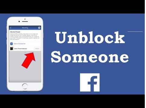 unblock fb person on iphone