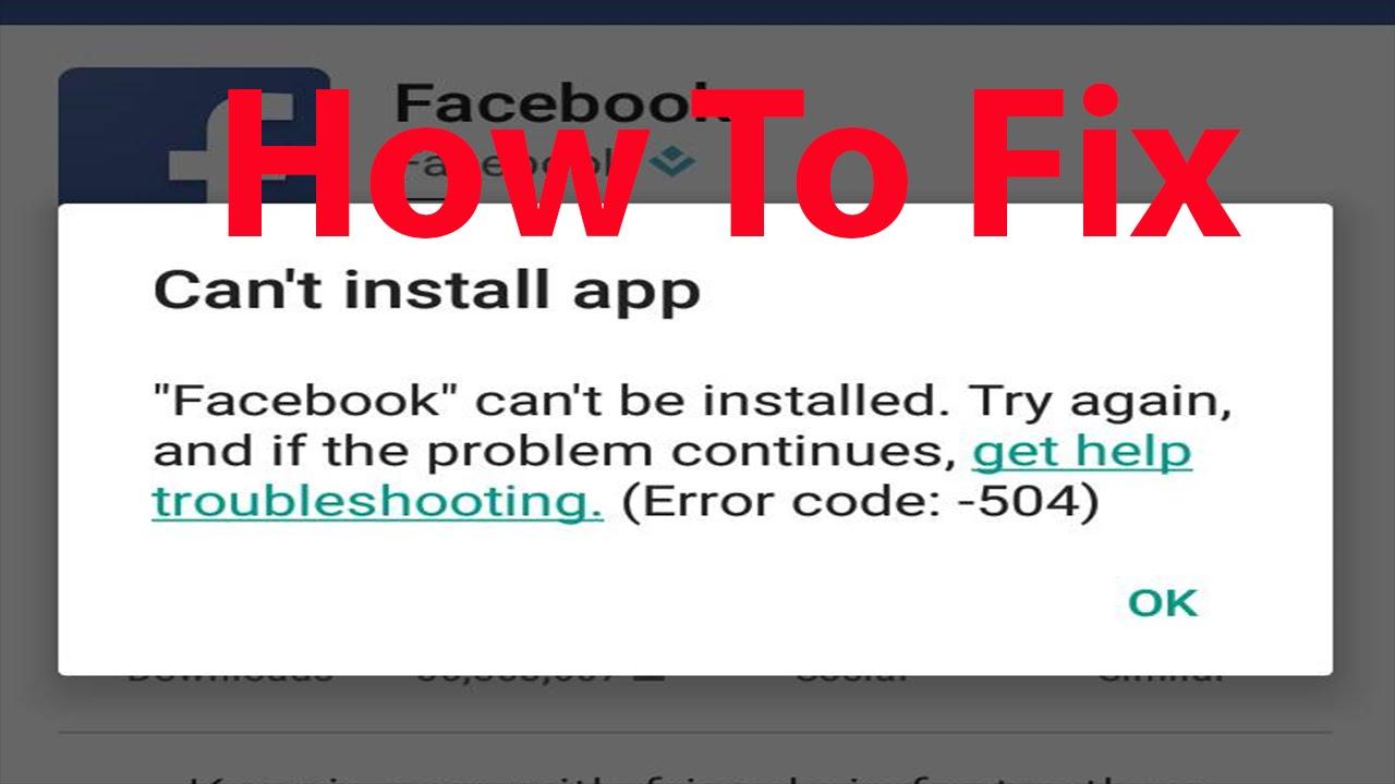 fb messenger install problem